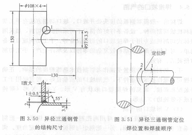 异径不锈钢三通气焊